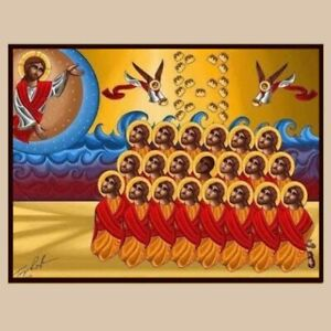The 21 Egyptian Martyrs in Libya - Coptic Orthodox Christian icon