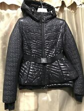 MONCLER GRENOBLE ROMANCHE down jacket nylon down feather BLACK Size 1 ***RARE***