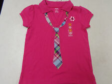 NWT GYMBOREE  SMART AND SWEET EMBROIDERED TIE  SS  PINK SHIRT  GIRLS  BTS   6