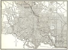 1935 Antique BALTIMORE Maryland Map VINTAGE Baltimore City Map  4960