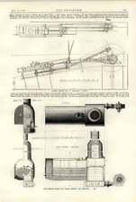 1891 Multi-Tubolare CALDAIA TIRAGGIO FORZATO moselboot composito Yacht Edie