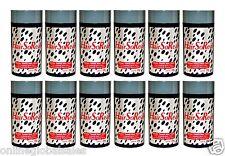 12 x HairSoReal, HSR Hair Building Fibers,Concealer,Cover Bald Spots / Black 28g