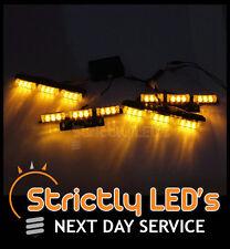 4x LED Clignotant Strobe Récupération Grill Ambré Grill Avertissement lumières tête strobe van