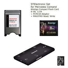 8 GB Set f. Mercedes COMAND APS NTG 3 4 Speicherkarte 8 GB + Lesegerät + Adapter