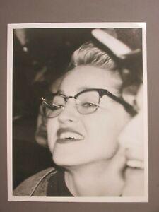 Madonna black & white 8 X 10 glossy promo photo ORIGINAL wearing glasses !