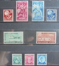 ALLIED OCCUPATION 1949 Rheinland-Pfalz, Complete Issues 9 m/h