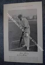 Rare Original Famous Cricketers, #012 Willm Chatterton, Derbyshire, Cricket 1895