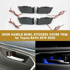 2019 2020 Door Handle Bowl Stickers Cover Trim W LED Blue light For Toyota RAV4