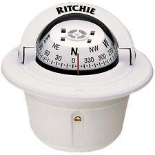 "Ritchie F-50 Explorer Compass Flush Mount White 2-3/4"""