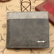 Mens Luxury Soft Quality Leather Wallet Credit Card Holder Purse ID Window Grey