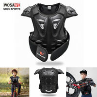 Kids Motorcycle Body Armour Armor Chest Protector Child Off Road Gear Dirt Bike
