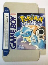 Pokemon Blue Game Boy box ONLY new, original flat packed from nintendo warehouse