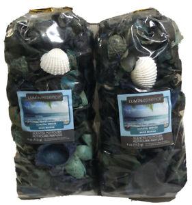 2 Luminessence Coastal Breeze Scented Dry Potpourri 4 oz. Bag Each