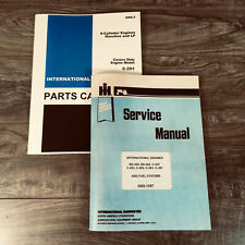 INTERNATIONAL 756 & 2756 TRACTOR ENGINE ONLY SERVICE PARTS C-291 6cyl MANUAL SET