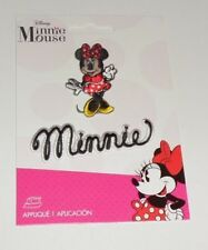 Disney MINNIE MOUSE Standing & MINNIE Name Embroidered iron on Patch 2 pc