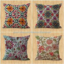 set of 4 cushion covers retro boho flower cheap throw pillow case