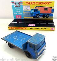 Vintage MATCHBOX Series 60 SITE OFFICE HUT TRUCK Diecast Model & Custom Display