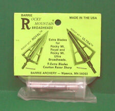 Rocky Mountain Royal & Ultra Broadhead Replacement Blades - New Pack