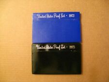 1972 & 1973 Proof US Mint Coin Sets – 11 Coins, including '73 Eisenhower Dollar