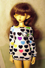 Hello kitty sweatshirt for MSD, minifee, 1/4 bjd DOLL