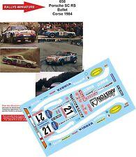 Decals  1/18 réf 658 Porsche Sc RS BALLET Tour de Corse 1984