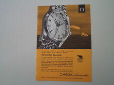 advertising Pubblicità 1960 OROLOGIO OMEGA SEAMASTER
