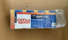 Office Depot Jumbo Paper Clips Smooth Finish 8 Boxes 100 Clipsbox