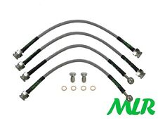 200SX S14 S14A S15 TURBO STAINLESS STEEL BRAIDED BRAKE LINES HOSES PIPES KIT UH