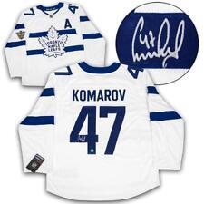 Leo Komarov Toronto Maple Leafs Signed Stadium Series Fanatics Replica Jersey