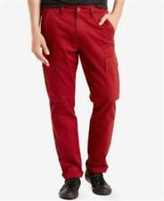 Levi's 541 Athletic Fit Cargo Pants Red Mens Size 31x32 New