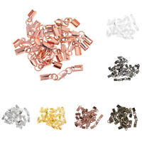 12 Sets Necklace Chain Cord Crimp End Fasteners Clips Findings Lobster Clasp