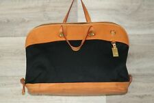 Dooney & Bourke Large Leather & Canvas Duffle Bag Purse Handbag Carry On