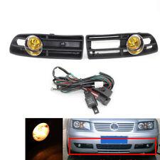 2Pcs/Set BUMPER GRILLE & FOG LIGHT LAMP FOR VW BORA 99-04 Amber Lens
