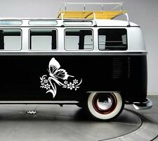 2x Large butterfly surf surfing vinyl car van graphic decal stickers graphics