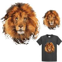 DIY Lion Iron-on Heat Transfer Clothes T-Shirt Patches Stickers Applique Decor