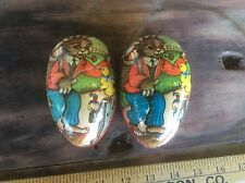 Vintage West Germany Easter Egg, Decorative Bunnies & Ducks Cardboard Paper