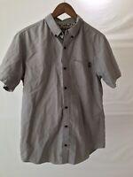 Dravus Men's Medium Short Sleeve Gray Button Down Shirt Excellent Condition 2