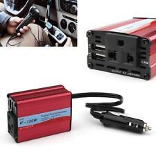 Digital 150W Car Power Inverter DC 12V to AC 220V Converter With 2 USB Ports GA