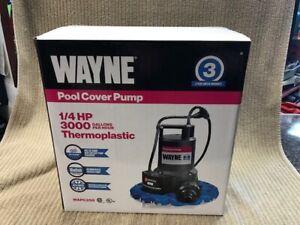 "WAYNE POOL COVER PUMP 1/4"" HP MODEL: WAPC250 THERMOPLASTIC NEW IN BOX Ships Free"