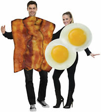 Bacon And Fried Eggs Breakfast Food Couples Costumes Halloween Fancy Dress Up