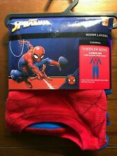 New Toddler Boy Cuddl Duds Spiderman Thermal Long Sleeve Crew & Leggings 2T-3T