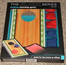 New! Desktop Beanbag Toss Game Cornhole Football Theme The Black Series