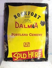 Old Vintage Advertising Dalmia Cement Enamel Signboard PS-74 COLLECTIBLE EDH