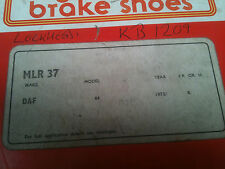 DAF 66 brake shoes for Lockheed system Mintex MLR37 compare LB331 KB1209
