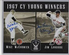 1967 Cy Young Winners MIKE McCORMICK - JIM LONBORG DUAL SIGNED 8X10