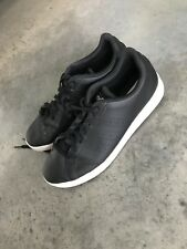 2a272bfb84f96 Adidas Mens Neo Label Fit Foam Vegan Leather Black Sneakers Shoes (R) SZ 9.5
