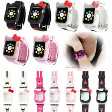 Cute Hellokitty Ears Soft Silicone Protective Case for Apple Watch 2/3/4/5 +Band