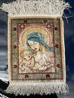 Silk Hand Woven Tapestry Baby Jesus Mother Mary