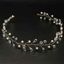 Imitación cristal Perla tiara caída nupcial diadema accesorios de pelo de boda