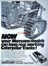 1971 MECCANO Advert 'Caterpillar Track Packs' - Vintage Print Ad